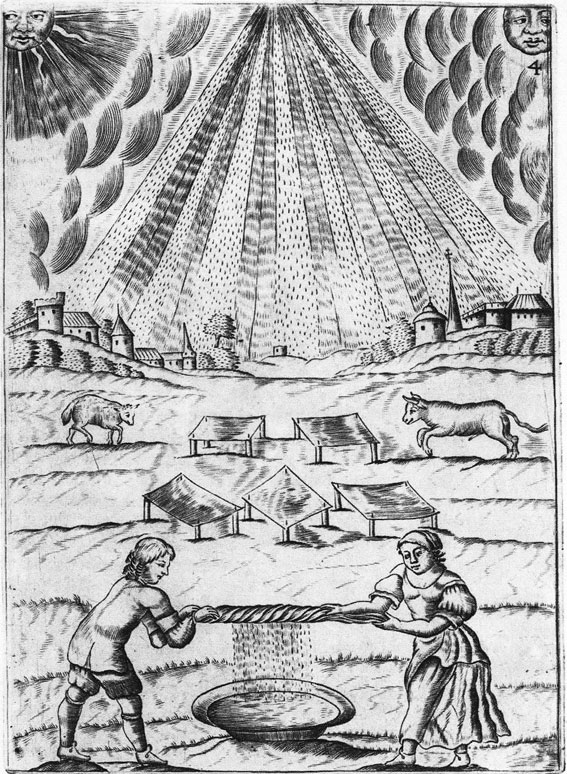 Mutus Liber, Tavola IV, raccolta della rugiada