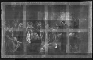 Il quadro di Glindoni ai raggi X svela intorno a Dee un cerchio di teschi